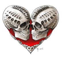 Skull heart by tpenttil