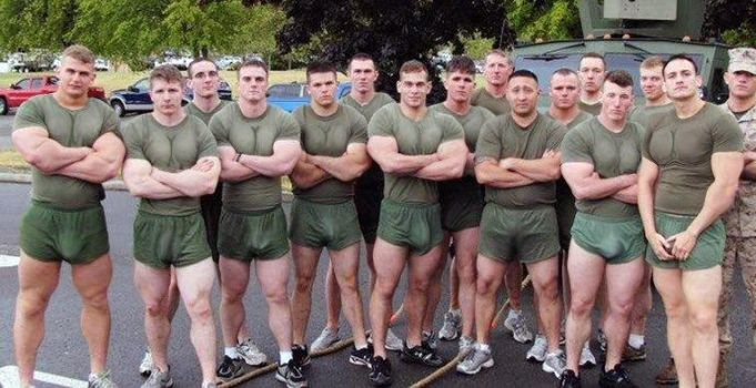 Musclemorphed Military Hunks4 by free42dream
