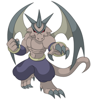 Dragon-Fight Gargoyle Pokemon by KingofAnime-KoA