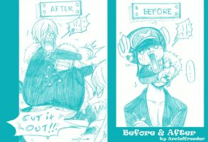 Before and After by ArcielFreeder