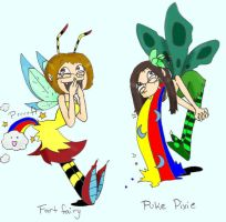 Fart Fairy and Puke Pixie by MissyZero