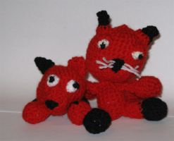 Dog and Cat Crochet by Little-Vampire