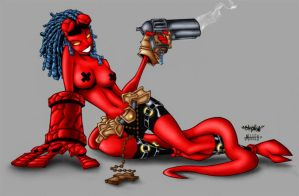 finished hellgirl by valadaz