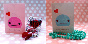Valentines Cards - Monster by pai-thagoras