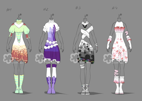 Bright Outfit Adopts - sold by Nahemii-san