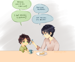 SnK EreRi - Eating Together by milemiru