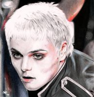 GERARD WAY - portrait drawing - IV by Shinkan-Seto