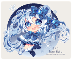 Snow miku + Speedpaint by KokoTensho