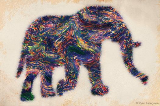 Painted Elephant by RMLstudios