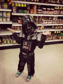 Vader goes shopping by GeneveMarie