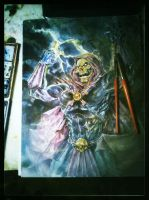 Skeletor Watercolored by dreamflux1