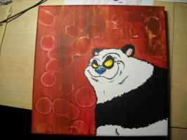 panda painting 12x12 acrylic by anthonyDeVito