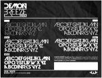 Demon Breeze Font by Weslo11