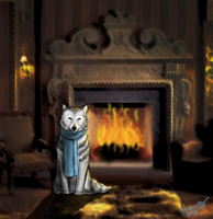 With fireplace by Domisea