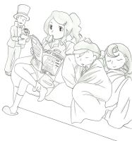 Professor Layton : Good Morning by Blychee