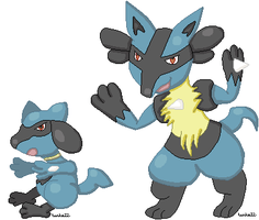 Lucario Family by tenko72