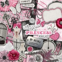 Digital Scrapbooking - Scrapkit Vintage Princess by Rickulein