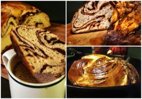 Choco-banana Swirl Bread by starrys