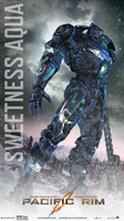 Pacific Rim: Water Tribe Sweetness Aqua Poster by Lewis-Christison