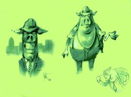 Pig Detective Concepts 3 by Eyth