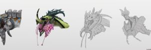 Orchid Lipped Dragons by Vincent-Covielloart