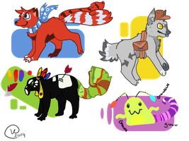 Wow! Special adopts! OPEN by ShadowLightArtist