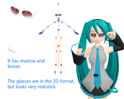 Stylish summer glasses + DL by CherryRoks