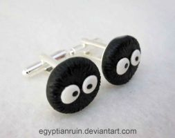 Soot Sprite Cufflinks by egyptianruin