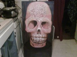 skull painting by llothcat