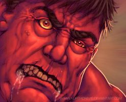 Red Hulk Close Up by StephenSchaffer