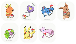 Pokemon keychain pictures by Fuugis