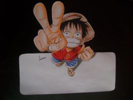 luffy 3d by Tenemur