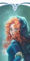 Disney Princesses Bookmarks: Merida by hart-coco