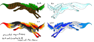 Elemental Magic Fox Adopts by lover-of-the-Drow