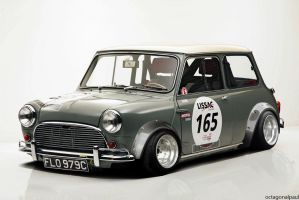 Classic Austin Mini lowered racer by octagonalpaul