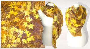 Silk scarf AUTUMN - FOR SALE by MinkuLul