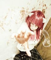 Lucy (Elfen Lied) -cosplay by Akaya-Chan09
