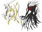 darkrai and arceus by callme-Nobodi