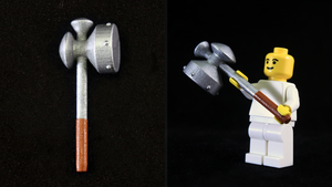 LEGO 3D Printed Painted Megaton Hammer by mingles