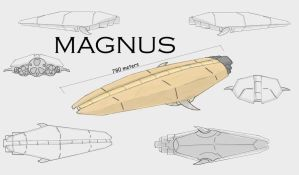 Magnus spaceship by FanNamed