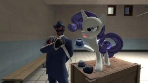 gmod - Rarity teaches Spy... by Stormbadger