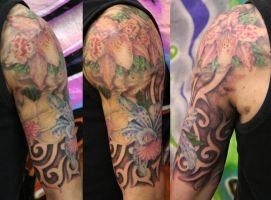 flower halfsleeve by graynd