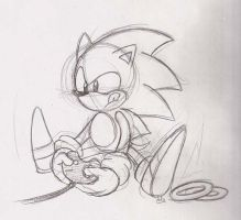 Classic Sonic plays Megadrive by adamis