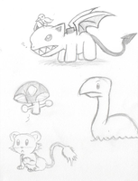 Earthbound sketchs by Yami-Kaola