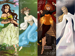 Tortall Heroine Bookmarks by Rowena-Arum