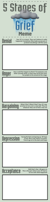 5 Stages of Grief Meme by Jabnormalities