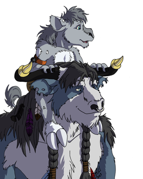 Father and Son by CarnivorousCaribou