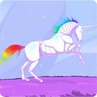 Robot Unicorn Attack Icon by Boarder24