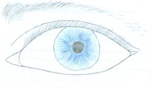 light blue eye by Stareldest