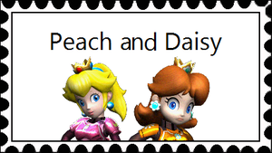 Peach And Daisy Stamp by RedqueenAllison